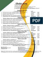 Obedné menu 09 .03.-13. 03 .2020