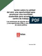 Movilidad y legislación de calidad del aire