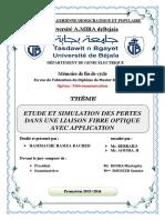 Etude Et Simulation Des Pertes Dans Une Liaison Fibre Optique Avec Application.pdf