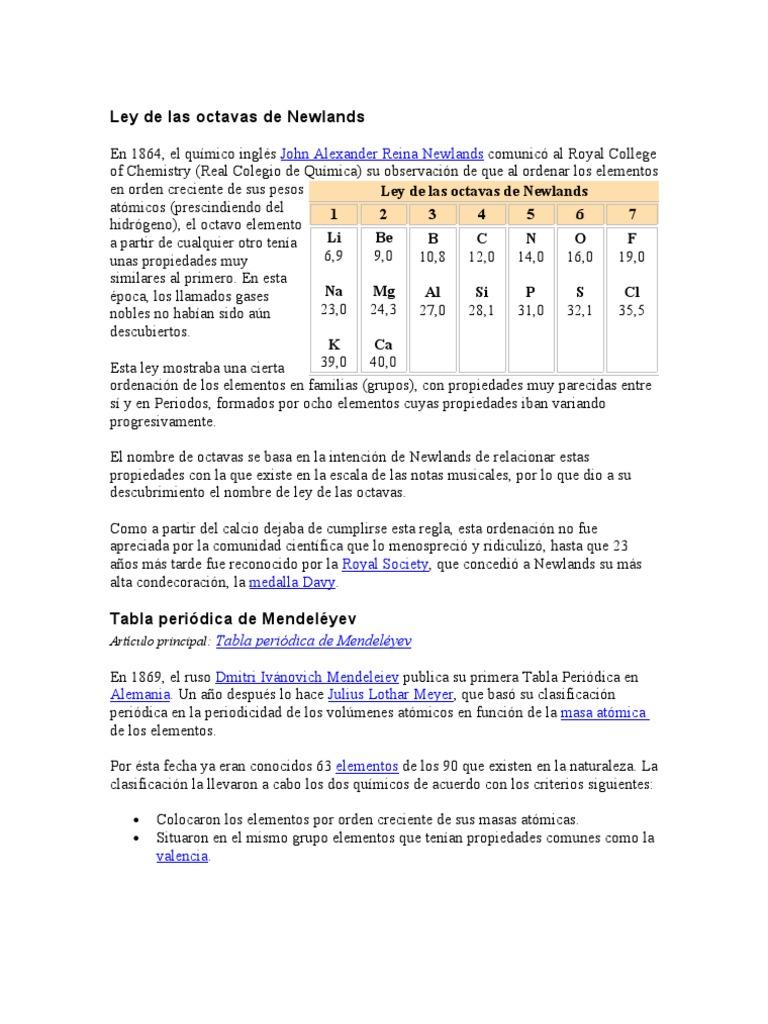 Ley de las octavas de newlands 1533603048v1 urtaz Images