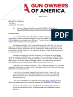 GOA Letter to NY Gov and AG Re Schumer March 6 2020