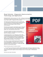 081120 Road Vehicles Diagnostic Ommunication Technology and Application