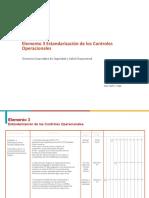 E- 03 Estandarización de los Controles  Operacionales