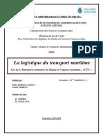 La Logistique Du Transport Maritime Bjaia
