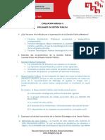 Evaluacion GP MODULO II - Diplomado Gestión Pública