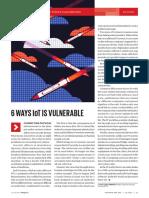 6 common vulnerabilities found in IoT