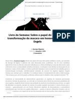 [PDF] Sobre o papel do trabalho na transformação do macaco em homem - Friedrich Engels