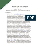 Decreto Supremo Nº 1277