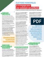 La charte d'engagement proposée aux candidats aux municipales