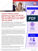 Get better database analytics performance at a lower cost with Dell EMC PowerEdge R840 servers equipped with value SAS and data center NVMe SSDs from KIOXIA