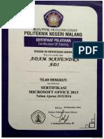 sertifikat office
