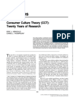 2005 Consumer Culture Theory (CCT)
