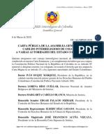 Carta Pública al Estado Colombiano