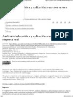 Auditoría informática y aplicación a un caso en una empresa real