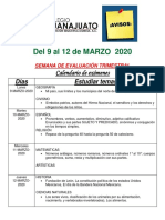 Avisos 9 Al 12 de Marzo 2020