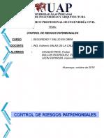 CONTROL DE RIESGOS PATRIMONIALES