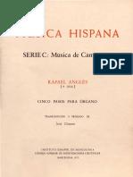 Angles, Rafael - Cinco Pasos Para Organo - CSIC