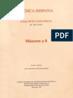 Ruiz Samaniego, Josep - Miserere a 8 - CSIC