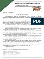 AVALIAÇÃO DIAGNÓSTICA 5 -2020 - 1 etapa