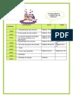 Planejamento semanal de ciências 3 ano