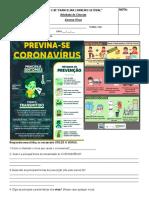 Atividada Avaliativa 7 Ano Coronavirus Terca Feira