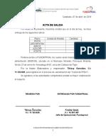 Actas de salida Despacho carnetizacion del 05 al 08 de abril CARNE