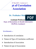 4. 16th May-Correlation and Association