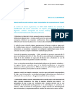 Seis nuevos casos de coronavirus confirmados en Argentina