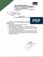 Răspuns solicitare Brașov