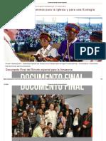 Documento Final Del Sínodo Amazonico