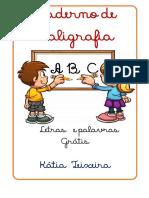 CALIGRAFIA LETRAS E PALAVRAS GRATIS (1)