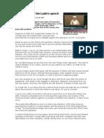 Full Transcript of Bin Ladin Speech