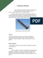 Processamento Mineral - Relatorio Classificador