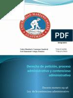Derecho de petición, proceso administrativo y contencioso.pptx