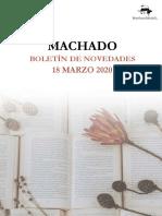 MACHADO Boletín novedades r18-3-20 ZC