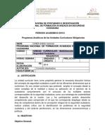 PROGRAMAS DEL PRIMER SEMESTRE DEL PNFA-SC 2019-I