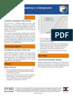 Fragmentation Modeling in Underground Application