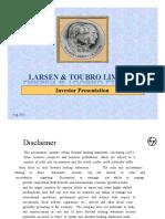 L&T Investor Presentation - August 2010