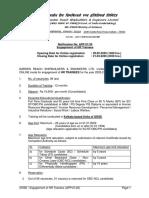 HR Trainee 2020-21 Detailed Advt