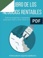 El Libro de Los Negocios Rentables - Darilyn Aquino Serrano