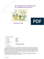 PLAN ANUAL DE TUTORIA DE LA Institución EDUCATIVA INICIAL Nº 246 QUIMLLO - copia