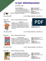 Recomendación de lecturas tablón 2010-2011