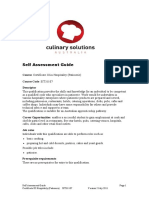 SIT31107 Certificate III Hospitality (Patisserie) Self Assessment Guide