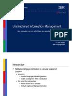IBM - Unstructured Information Management