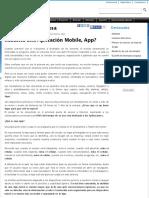 ¿Por qué mi empresa necesita una Aplicación Mobile, App?