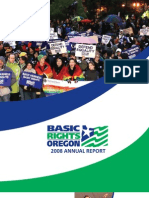 2008 Basic Rights Oregon Annual Report