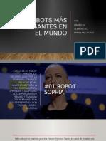 ROBOTS MAS INTERESANTES EN EL MUNDO