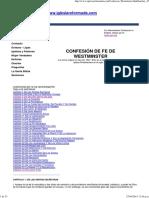 Confesion de fe Wesmister español