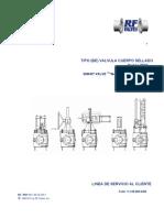 RF VALVE IOM Manual de Instrucciones y Mantenimiento
