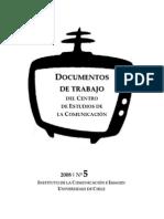 Documentos de Trabajo - Universidad de Chile CECOMUNICACION _CUAD_5_2008